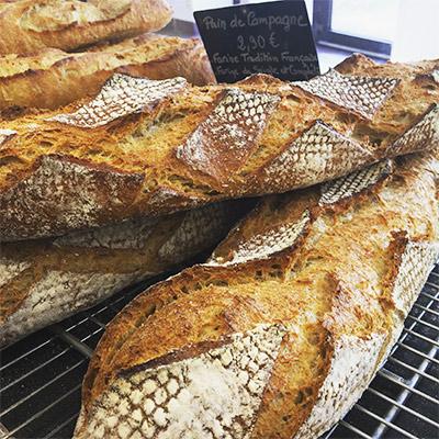 Boulangerie École l'Aura, baguette de campagne